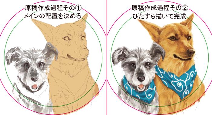 オルジナル缶ミラー作成記事作画過程2