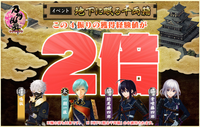 2021年5月度:大阪城経験値2倍キャンペーン