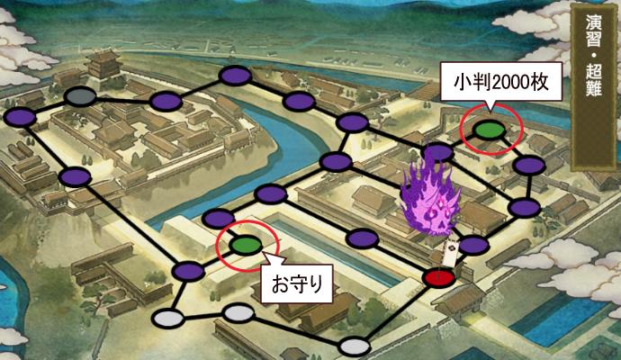 刀剣乱舞イベント「戦力拡充計画」難易度超難マップ