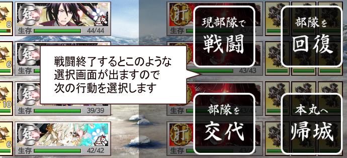 刀剣乱舞2020年12月[連隊戦]遊び方2