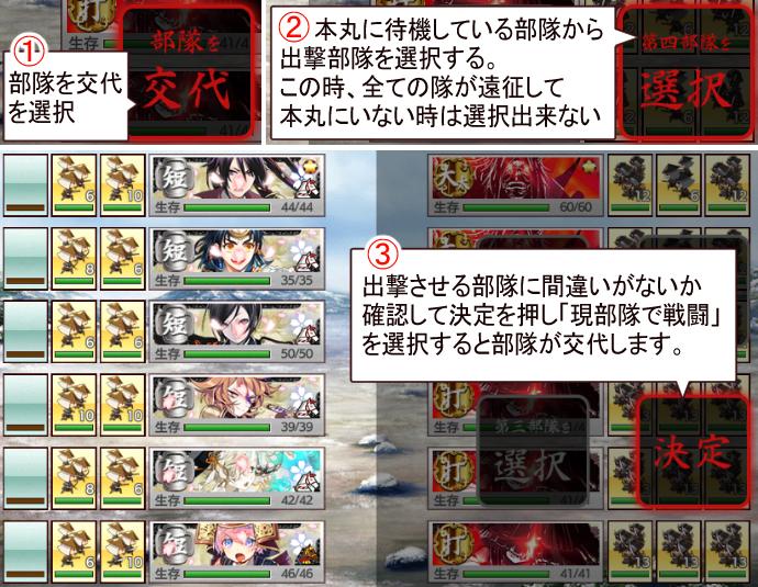 刀剣乱舞2020年12月[連隊戦]遊び方3
