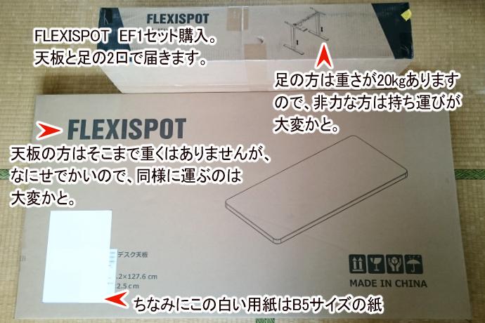 FLEXIPOT昇降デスクレビュー記事1
