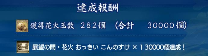 刀剣乱舞イベント【夜花奪還作戦】2021年8月期イベント最終目的達成画面